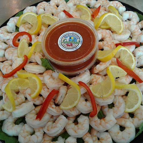 Beachside shrimp platter